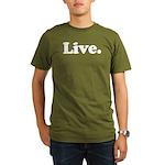 Live Organic Men's T-Shirt (dark)