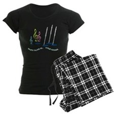 Flute Treble Quote Women's Dark Pajamas