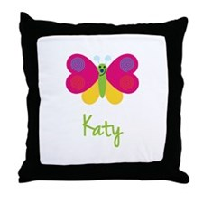 Katy The Butterfly Throw Pillow