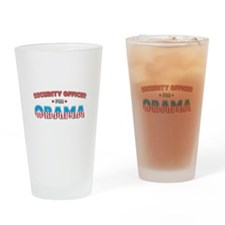 Security Officer For Obama Drinking Glass