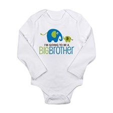 Elephant going to be a Big Brother Baby Outfits