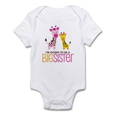 Giraffe going to be a Big Sister Onesie