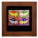 Fiat 500 Modern Art Framed Tile