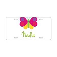 Nadia The Butterfly Aluminum License Plate
