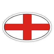 Oval England Oval Decal