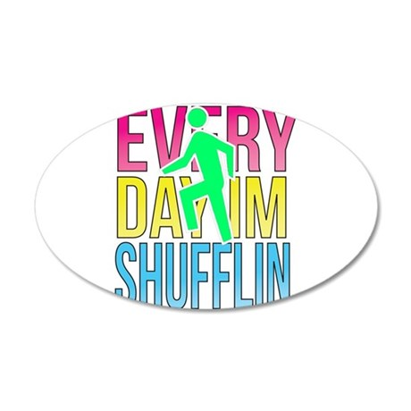 Shufflin 22x14 Oval Wall Peel