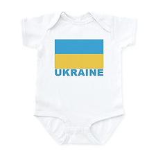 World Flag Ukraine Infant Creeper