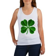 St Patricks Day 4 Leaf Clover Women's Tank Top