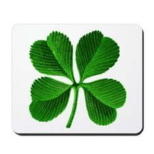St Patricks Day 4 Leaf Clover Mousepad