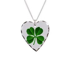 St Patricks Day 4 Leaf Clover Necklace
