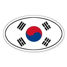 South Korean flag Oval Decal
