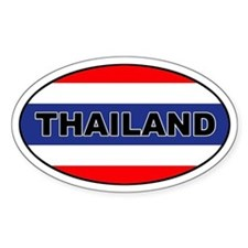 Thai (Thailand) Flag Oval Decal