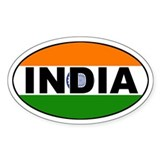 India (Indian) Flag Oval Decal