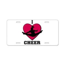 I love Cheerleading Aluminum License Plate