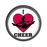 I Love Cheer Wall Clock