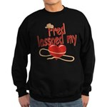 Fred Lassoed My Heart Sweatshirt (dark)