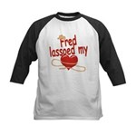 Fred Lassoed My Heart Kids Baseball Jersey