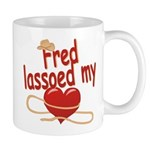 Fred Lassoed My Heart Mug