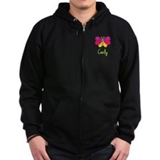 Carly The Butterfly Zip Hoodie