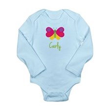 Carly The Butterfly Long Sleeve Infant Bodysuit