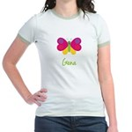 Gena The Butterfly Jr. Ringer T-Shirt