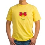 Gena The Butterfly Yellow T-Shirt