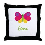 Gena The Butterfly Throw Pillow