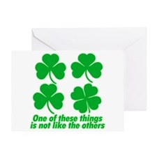 Shamrocks and Clovers Greeting Card
