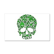 Shamrock Skull St Patricks Day Car Magnet 20 x 12