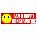 Happy Conservative Bumper Sticker