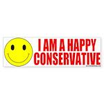 I Am A Happy Conservative Bumper Sticker