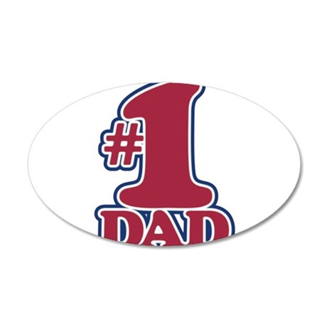 #1 DAD 38.5 x 24.5 Oval Wall Peel