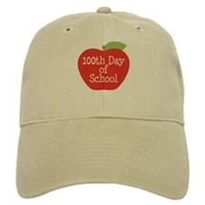 100th Day Of School Red Apple Baseball Cap