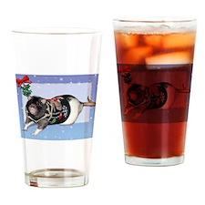 Mistletoe Sweater Rattie Drinking Glass