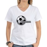 I love futbol Women's V-Neck T-Shirt