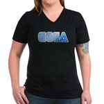 Gega Women's V-Neck Dark T-Shirt