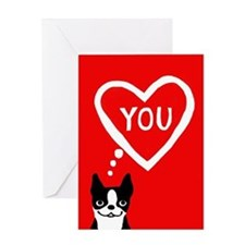 Boston Terrier Valentine Love Card