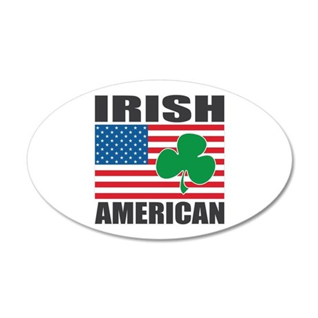 Irish American Flag 22x14 Oval Wall Peel