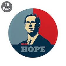 """Rick Santorum New Hope 3.5"""" Button (10 pack)"""