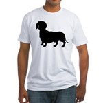 Dachshund Silhouette Fitted T-Shirt
