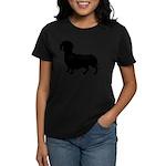 Dachshund Silhouette Women's Dark T-Shirt