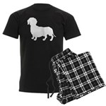 Dachshund Silhouette Men's Dark Pajamas