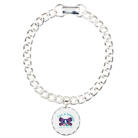 Thyroid Cancer I 'm A Survivor Charm Bracelet, One