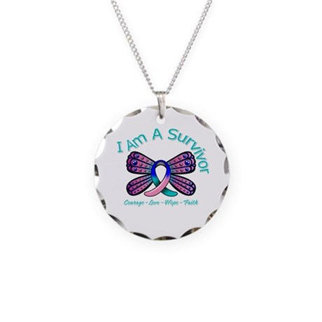 Thyroid Cancer I 'm A Survivor Necklace Circle Cha