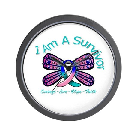 Thyroid Cancer I 'm A Survivor Wall Clock