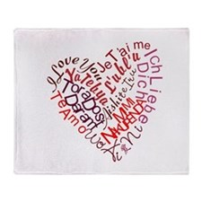 Love Stuff Throw Blanket