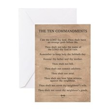 The Ten Commandments Greeting Card