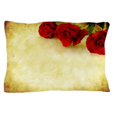 Steampunk Roses Pillow Case