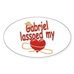 Gabriel Lassoed My Heart Sticker (Oval)