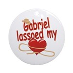Gabriel Lassoed My Heart Ornament (Round)